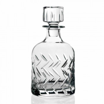 2 shishe uiski kristal eko-miqësore me kapak dekorativ të cilësisë së mirë - aritmi