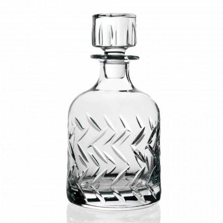 2 shishe uiski kristali ekologjike me kapak, dekorime të cilësisë së mirë - aritmi