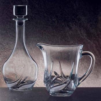2 kana uji në kristal ekologjik me zbukurime luksoze të prodhuara në Itali - Advent