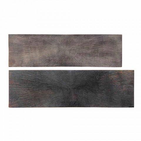 2 Consolle në Çelik dhe Alumini me Pllaka të Veshura Moderne - Narnia