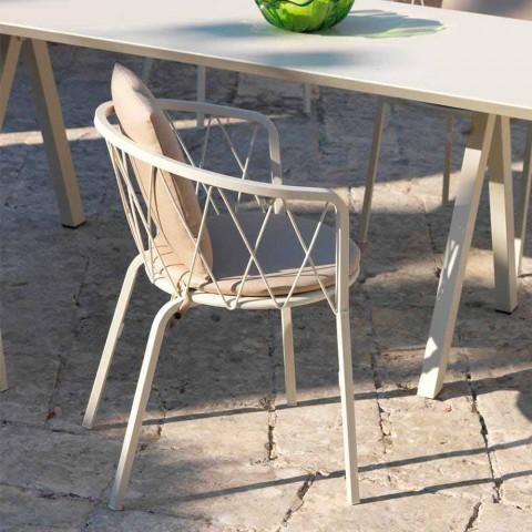 2 kolltuqe në natyrë në Paint Metal Stackable Made in Italy - Adia