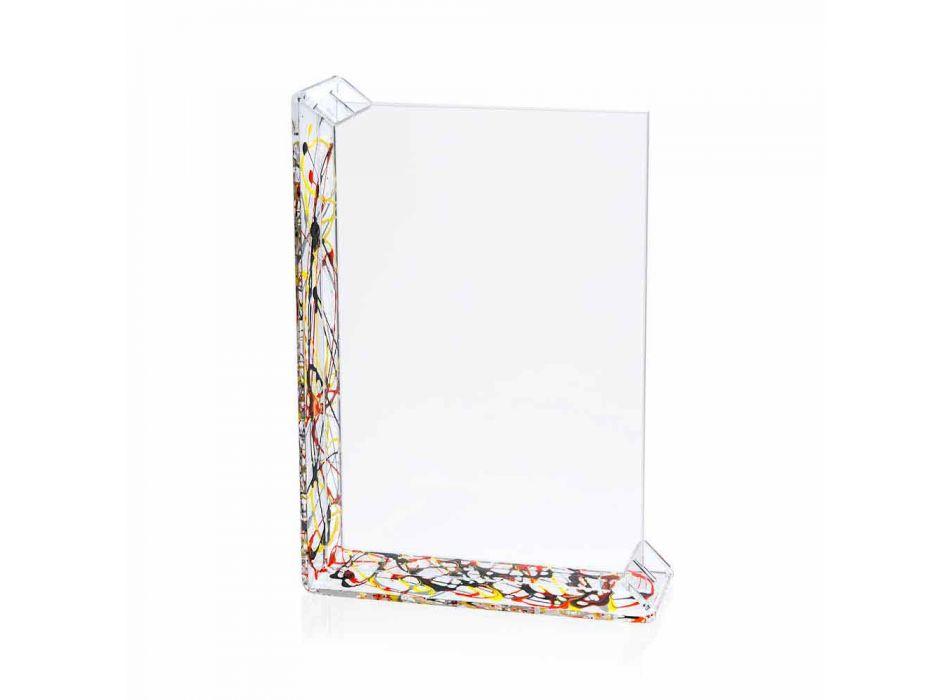 2 Kornizë fotografike me tavolina të shumëfishta në pleksiglas me ngjyra ose me dru - Menelao