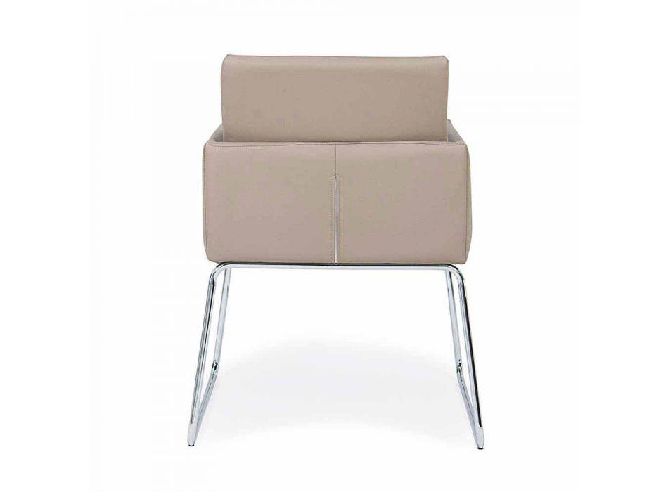 2 karrige me mbështetëse të mbuluara nga lëkura në dizajn modern Homemotion - Farra