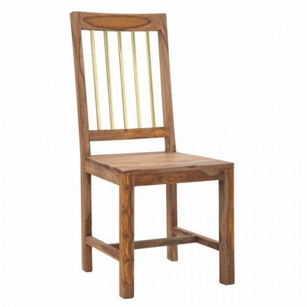 Palë e dy karrigeve të kuzhinierëve Designer krejtësisht në dru - me rërë