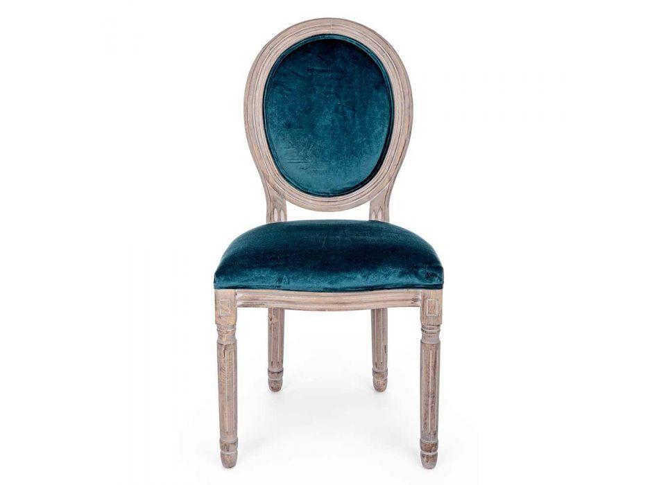 2 Karrige të dhomës së ngrënies me dizajn klasik në poliestër Homemotion - Dalida