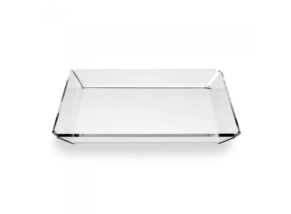 2 Sirtari Plexiglas i Hyrjes me Dizajn Modern në Plexiglas transparent - Tonio
