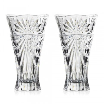 2 vazo për dekorimin e tryezës në kristal ekologjik me dizajn unik - Daniele