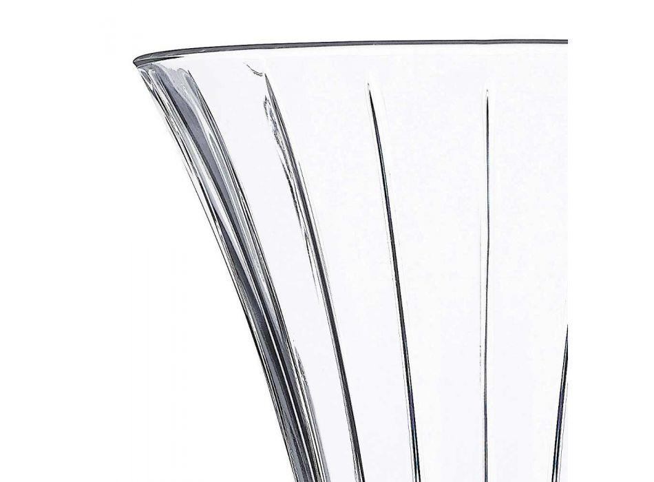 2 Vazo për Dekorimin e Dizajnit në Luksoze Transparente të Dekoruar me Kristal Eko - Senzatempo