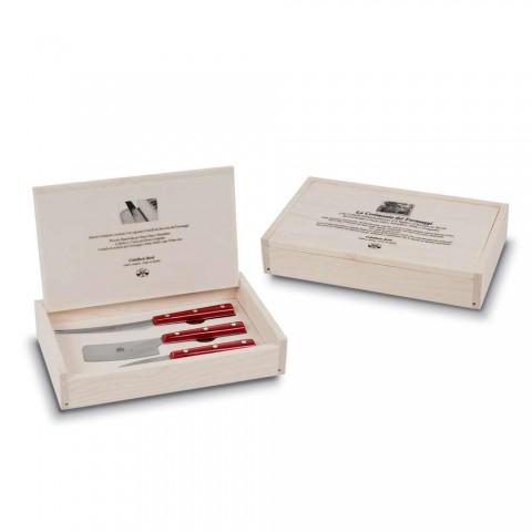 3 thika djathi çeliku inox Berti Ekskluzive për Viadurini - Asiago