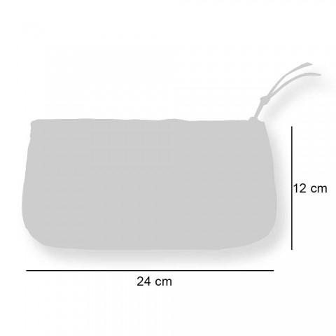 3 Rrathë pambuku të shtypur me dorë në copa unike - Viadurini nga Marchi