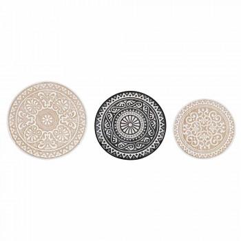 3 tavolina kafeje në MDF me zbukurime të vendosura nga homemotion - Mariam