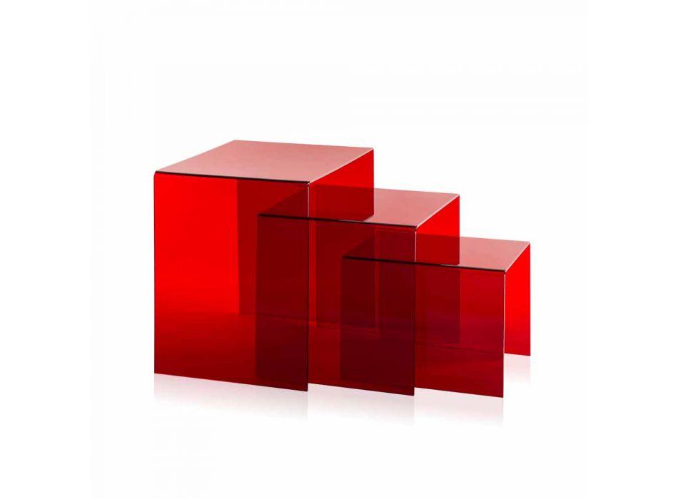 3 Tabela e rregullueshme e kuqe Amalia, model modern, i bërë në Itali
