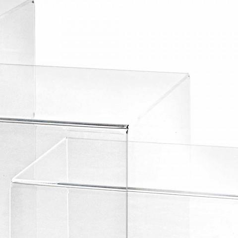3 Tabela dizajne transparente, të adaptueshme Amalia, të bëra në Itali