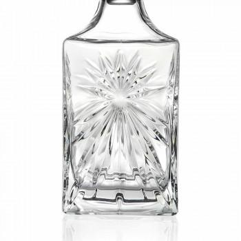 4 shishe uiski me dizajn katror Eco Crystal Cap - Daniele