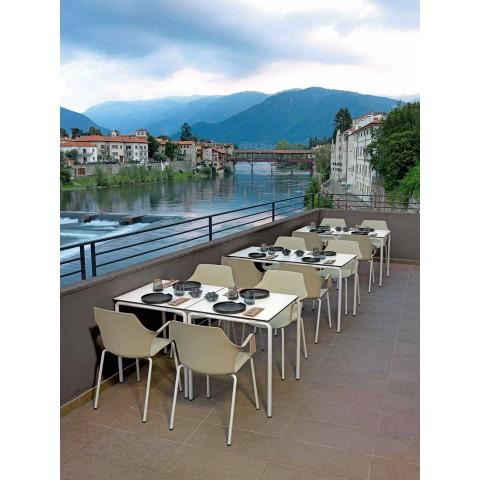 4 Karrige të Qëndrueshme në natyrë në polipropileni dhe metalikë të bërë në Itali - Carlene