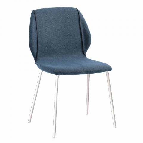 4 Karrige elegante moderne të dhomës së ndenjes në pëlhurë me bordurë - Scarat