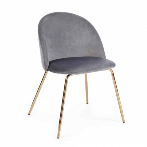 4 Karrige Dizajni të veshur me kadife me strukturë çeliku Homemotion - Dania