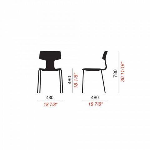 4 karrige të qëndrueshme në metal dhe polipropileni të bëra në Itali - Clarinda