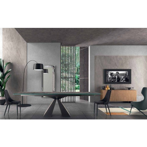 4 Karrige Moderne Çeliku me Sedilje të Veshur të Veshur Prodhuar në Itali - Nirvana