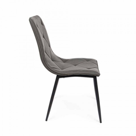4 Karrige Moderne të Mbuluara në Lëkurë me Bazë Çeliku Homemotion - Daisa