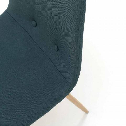 4 Karrige të dhomës së ngrënies me sedilje pëlhure dhe strukturë metali - Pampa