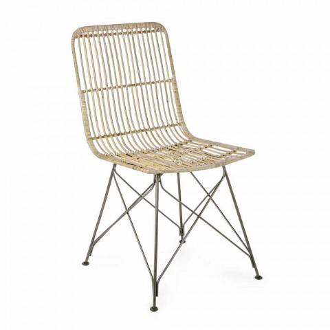 4 Karrige në dhomën e ngrënies në çelik dhe endje nga Kubu Homemotion - Kendall