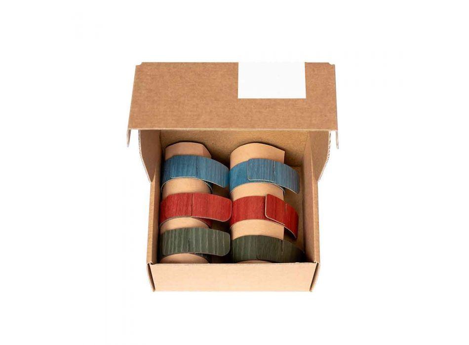 6 Dizajnoni Unaza Pecete në Ngjyra të Asortuara Prodhuar në Itali - Vogël
