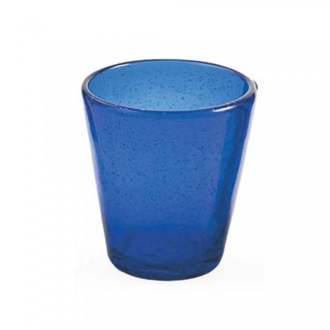 6 gota Shërbimi Artizanal i Ujit i qelqit me lule të çelur - Yucatan