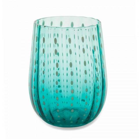 6 gota qelqi me ngjyra dhe moderne për shërbimin elegant të ujit - Persia