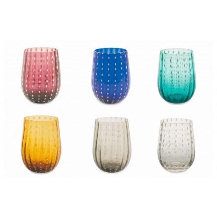 12 gota qelqi me ngjyra dhe moderne për shërbimin elegant të ujit - Persia