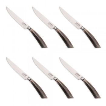 6 Thika biftek të bëra me dorë në brirë ose dru të prodhuara në Itali - Zuzana