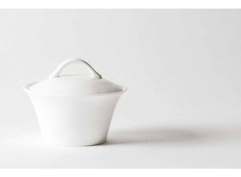 6 gota kafeje prej porcelani me tenxhere kafeje dhe tas me sheqer - Romilda