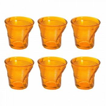 6 gota kafeje gota të thërrmuara në xhamin e dizajnit me ngjyra - Sarabi