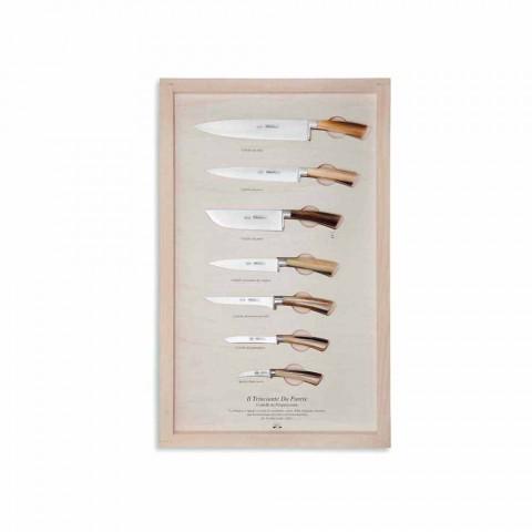 7 thika muri çelik inox Berti ekskluzive për Viadurini - Modigliani
