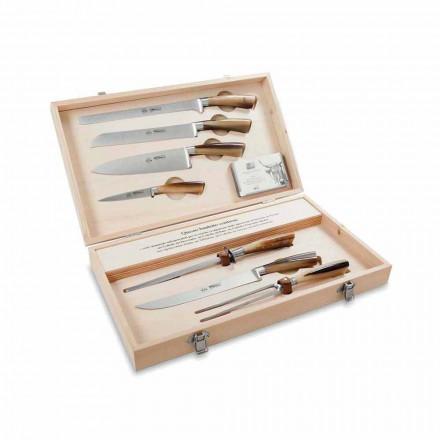 7 thika tavoline në çelik, Berti ekskluzivisht për Viadurini - Sanzio
