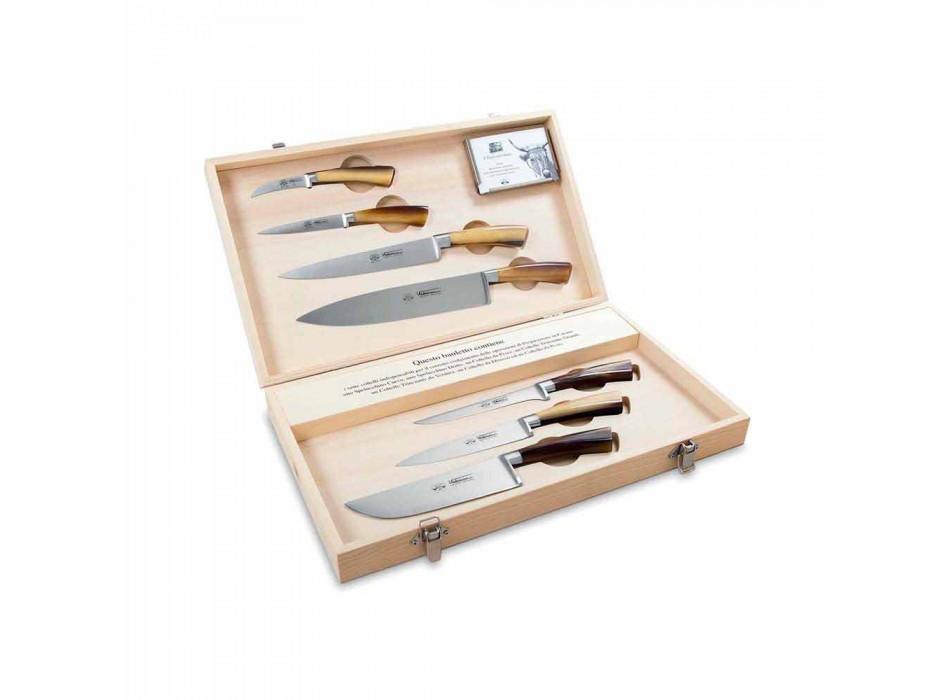 7 thika çelik inox italiane Berti ekskluzivisht për Viadurini - Goya