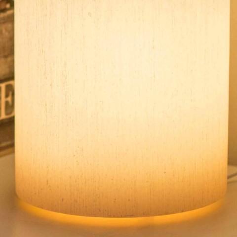 Abat-jour cilindrik në efektin e gërvishtur të dyllit aromatik të bërë në Itali - Donata