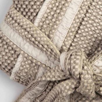 Bathrobe luksoze Kimono në liri dhe pambuk, 2 përfundime të prodhuara në Itali - Kleone
