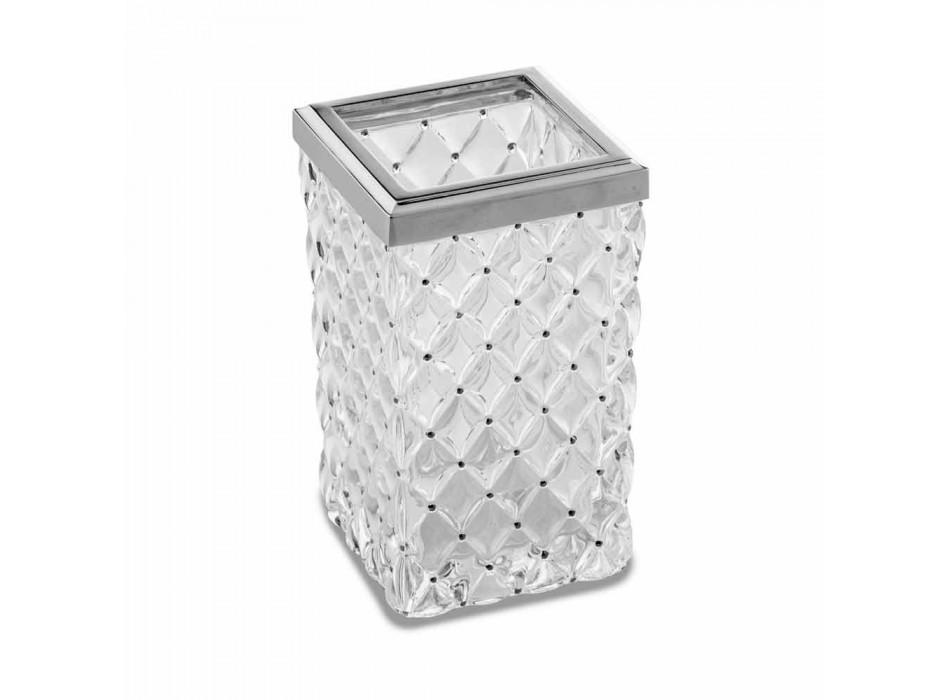 Aksesorë banjo në këmbë falas në Crystal dhe Metal Capitonnè - Argjend