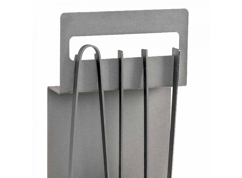 Aksesorët e Zjarrit në Çelik me Ngjyrë Prodhuar në Itali 4 Copë - Rachel