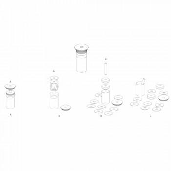 Aperitiv Aksesorë Instrumente Koktej në Mermer, Dru dhe Çelik - Norman