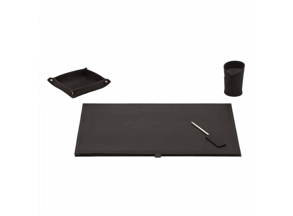 Aksesorë tavolinë në lëkure të rigjeneruar 4 copë të bëra në Itali - Aristotel