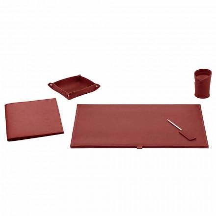 Aksesorë zyre për tavolinë në lëkure të lidhur, 5 copë - Aristotel