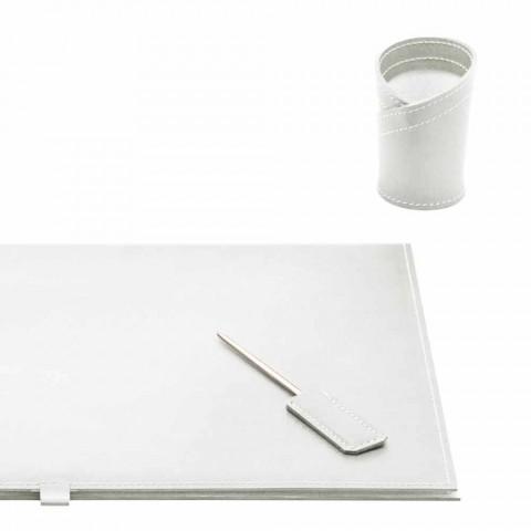 Aksesorë tavolinë në lëkure të rigjeneruar 5 copë të bëra në Itali - Aristotel