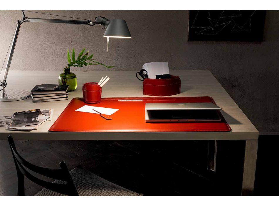 Aksesorë të Tavolinës prej lëkure të Rigjeneruar 4 copë të prodhuara në Itali - Ebe