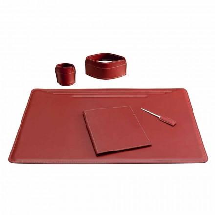 Aksesorë prej tavolinash prej lëkure 5 copë të bëra në Itali - Ebe