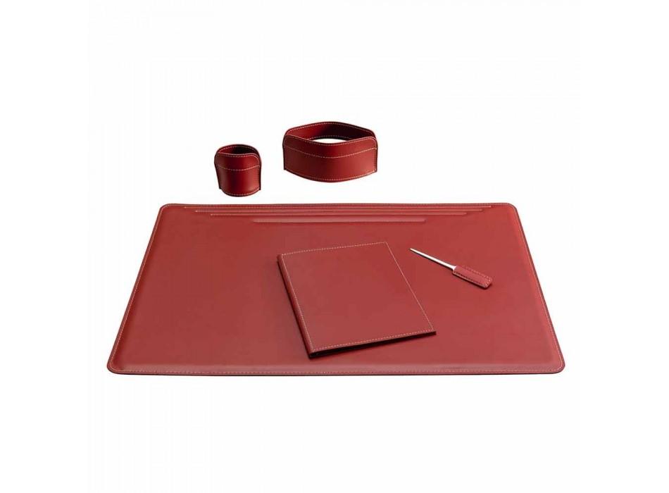 Aksesorë tavolinë në lëkure të rigjeneruar 5 copë të bëra në Itali - Ebe