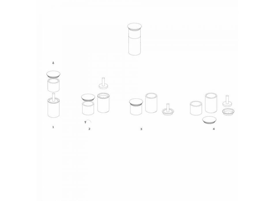 Aksesorë për Ruajtjen e Hapësirës për Vegla Kuzhine në Mermer, Dru dhe Çelik - Astoria