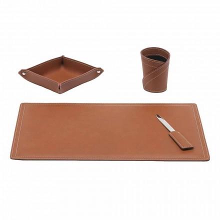 Aksesorë Rigjeneruar Tavolinë lëkure, 4 copë, Made in Italy - Ascanio