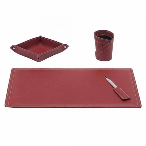 Aksesorë 4 Tavolinë prej lëkure të Rigjeneruar në pjesë të bëra në Itali - Ascanio